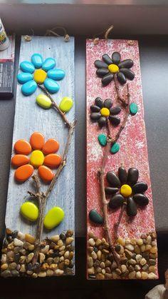 Stone Crafts, Rock Crafts, New Crafts, Fall Crafts, Painted Rock Cactus, Painted Rocks, Diy Wall Art, Diy Art, Diy Bottle Cap Crafts