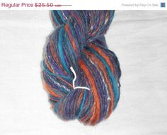 Fall Sale Handspun Hand Dyed Soft Merino Silk by SussesSpindehjrne