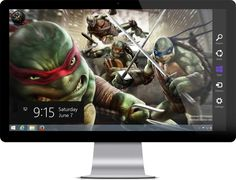 Teenage Mutant Ninja Turtles Theme for Windows 7 and Windows 8