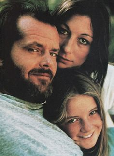 Jack Nicholson with his daughter Jennifer and girlfriend Anjelica Huston.