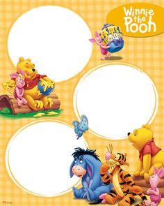 Printable winnie the pooh photo frames kids free fun page Disney Winnie The Pooh, Winnie The Pooh Pictures, Winnie The Pooh Birthday, Winnie The Pooh Friends, Baby Scrapbook, Scrapbook Cards, Orla Infantil, Walt Disney Cartoons, Disney Frames