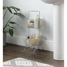 Buy Argos Home 2 Tier Wire Storage Basket - Matte Grey Wire Basket Storage, Wire Storage, Neat And Tidy, Argos, Getting Organized, Decorative Boxes, Cabinet, Grey, Stuff To Buy