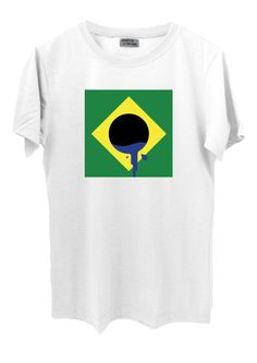 Camiseta em malha PV (67%poliéster, 33% viscose).