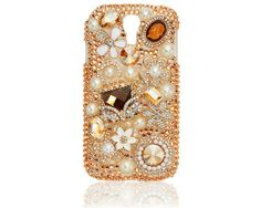 Knock yourself out bling phone case! met deze goud- en glitterfantasie bling voor op je Apple Iphone 5C,5/5s, Apple Iphone 4/4S, S3, S3 mini, S4, S4 mini, HTC one, HTC one mini