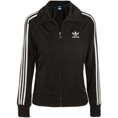 adidas Originals Firebird satin-jersey jacket ($38) ❤ liked on Polyvore featuring outerwear, jackets, activewear, cardigans, slim fit jacket, retro jackets, adidas originals, slim jacket and zip jacket
