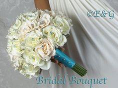 ANGELINA CREAM MALIBU accent Complete Wedding Package Bridal Bridesmaid Groom Corsage silk flowers by Angel Lotus, http://www.amazon.com/dp/B007R2HHS2/ref=cm_sw_r_pi_dp_GiJfqb0EB38K6