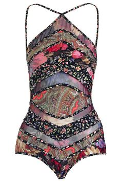 30 1-Piece Swimsuits That'll Make You Think Twice About Bikinis #refinery29 http://www.refinery29.com/sexy-one-piece-swimsuits#slide-16 Patchwork at its finest.