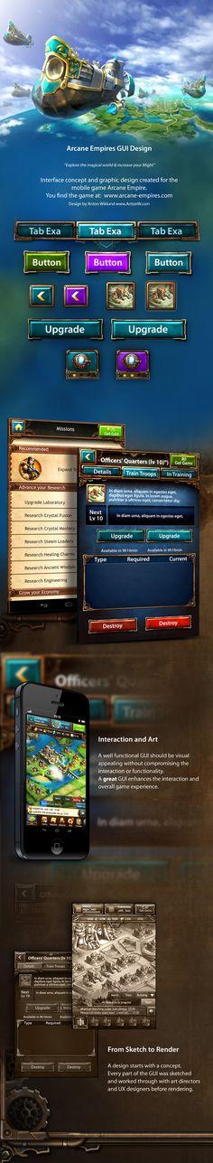 Arcane Empires Mobile Game | Anton Wiklund's GUI and Graphic Design Portfolio