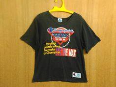 Vintage 90s Champion Products Basketball USA It Takes a little more to make a Champion Large size Blue Label T Shirt by ArenaVintage
