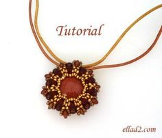 Beading Tutorial Medallion Pendant