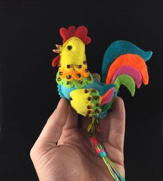 Felt Chicken Doll,  Felt Rooster Doll, Felt Toy, Chiken Toy, Home Decor, Stuffed  Farm Animal, Easter Wall Decoration, Chicken Ornament by TreasureMyIsland on Etsy