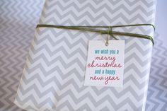 Free Printable - Holiday Gift Tag