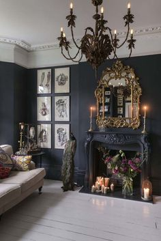 Nice 37 Cool Gothic Living Room Designs Ideas. More at http://dailypatio.com/2017/12/09/37-cool-gothic-living-room-designs-ideas/