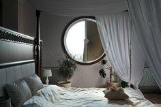 window in the bedroom Oversized Mirror, House Design, Windows, Curtains, Interior Design, Bedroom, Furniture, Home Decor, Design Ideas