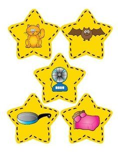 Free! Rhyming-20 star cards, to create 10 rhyming pairs. It contains a matching mat for small group or RTI phonics instruction