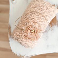 Cream Knit Baby Wrap Wrap Set Newborn Prop Newborn by CoraBloom, $22.00