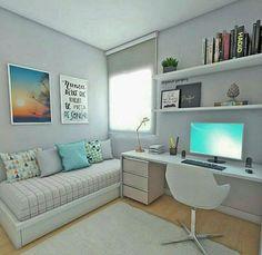 white desk designs for minimalist home office 9 < Home Design Ideas Home Office Design, Home Office Decor, House Design, Home Decor, Office Ideas, Diy Zimmer, Home Office Organization, Organization Ideas, Dream Rooms