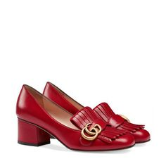 Gucci womens Leather mid heel pump shoes 408208 6433 hibiscus red leather Source by women shoes High Heel Pumps, Women's Pumps, Pump Shoes, Shoes Heels, Flats, Gucci Shoes Outlet, Cheap Gucci Shoes, Gucci Brand, Vans Sneakers