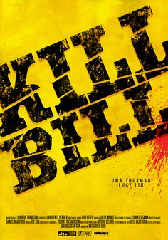 Alternative Movie Poster for Kill Bill by Coni Luciani
