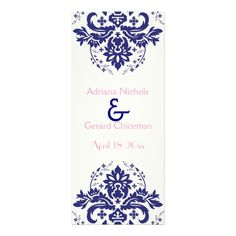 Discount DealsDamask navy blue, pink wedding ceremony program personalized invitationin each seller & make purchase online for cheap. Choose the best price and best promotion as you thing Secure Checkout you can trust Buy best