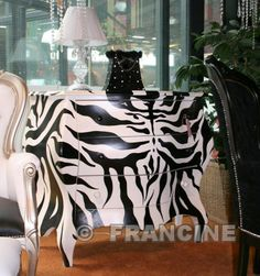 Glam,Feminine decor Zebra chest