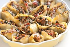 Recipe: Stuffed Shells Sausage and Spinach