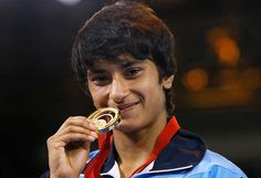 Vinesh, 19, is the cousin of Geeta Phogat, who had won the first gold medal for India in women's wrestling in the 2010 Delhi Games.