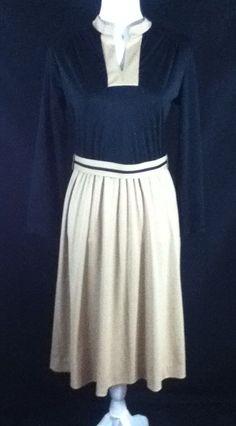 1960s Mid Century MCM SECRETARY CAREER DRESS Vintage Colorblock SZ Small        #Happenings #TeaDress #Business