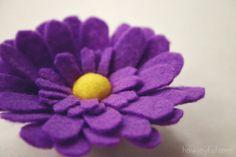 daisy-flower-margarida em feltro