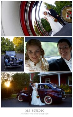 Doylestown, PA | M2 Shoot Styling Tip!! Antique, classic or retro cars will make your wedding photos unique and really showcase your style and personality as a couple! Retro Cars, Unique Photo, Wedding Shoot, Real Weddings, Photo Ideas, Your Style, Personality, Couple, Studio