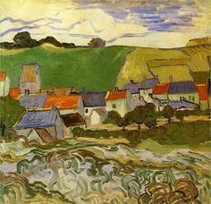 Vincent van Gogh: View of Auvers. Oil on canvas. Auvers-sur-Oise: May-June, 1890. Amsterdam: Van Gogh Museum.