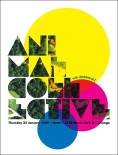 Animal Collective / Rodriguez. Poster design: Steve Sleeve (2009).