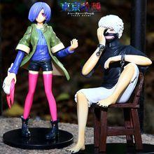Tokyo Ghoul Touka and Kaneki PVC action figures.