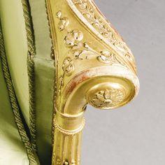 Detail of 18th century sofa arm