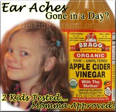I want to share a success story of recent ear probs in my daughters, 3 and 6 years of age. Also, myself. Lately, I've been finding Bragg's Organic Apple Cider Vinegar (ACV) to be a useful tool. My ...