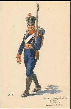 Cacciatore del 4 rgt. fanteria leggera del regno di Napoli