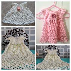 Free pattern for crochet solomon's knot baby dress Perfect gift for baby girls #diy #crochet #freepattern