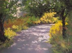 "Daily+Paintworks+-+""Summer+Walk""+-+Original+Fine+Art+for+Sale+-+©+Ruth+Mann"