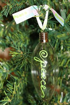 Ornaments, this would be cute with family name's on each one