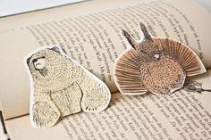 Papier & Pappe - Lesezeichen Bär und Eichhörnchen - ein Designerstück von baervonpappe bei DaWanda