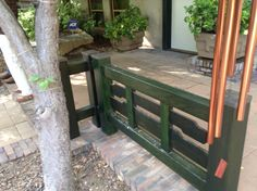 Fence Outdoor Furniture, Outdoor Decor, Fence, Entryway Tables, Landscape, Home Decor, Homemade Home Decor, Scenery, Landscape Paintings