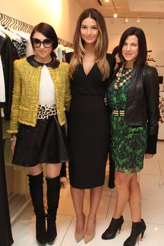 Stacey Bendet, Lily Aldridge and Jessica Seinfeld at alike +...
