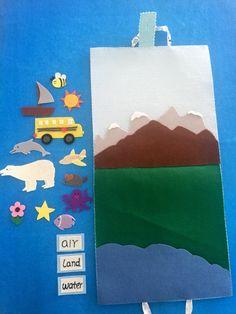 Air land and water felt mat/Montessori by IvyHandmadeDesign