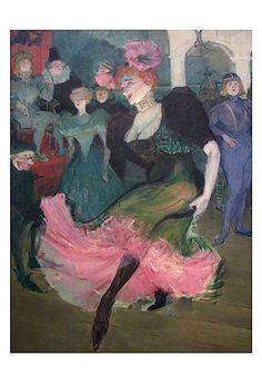 Marcelle Lender Dancing Bolero Art Print by Henri de Toulouse-Lautrec