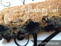 paleo blueberry bread (no flour/sugar)