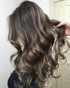 Image result for dark brown hair with blonde highlights