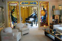We love Elvis' Graceland music room windows - so vivid!