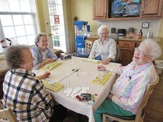 Sharing an afternoon game and a few laughs!
