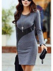 Women' Slim Warm Knitted-dress