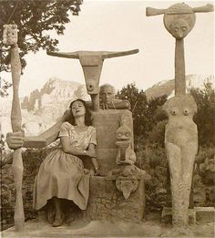 Max Ernst and his wife Dorothea Tanning in Sedona Arizona 1948. @designerwallace
